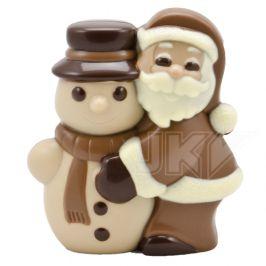 kerstman, sneeuwpop