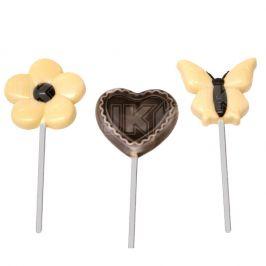 lolly, hart, bloem, vlinder